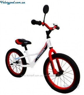 16 ВЕЛОБІГ CROSSER BALANCE BIKE white-red - 1187