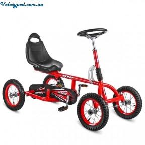 Велокарт Bambi M 1697 - 12 надувные резиновые колеса 12 дюймов Амортизатор 126см  RED - 1342